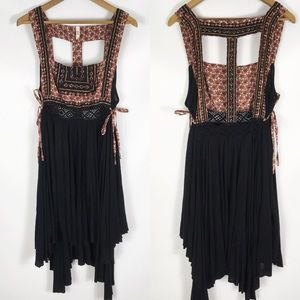FREE PEOPLE | boho side tie flowy mini dress tunic